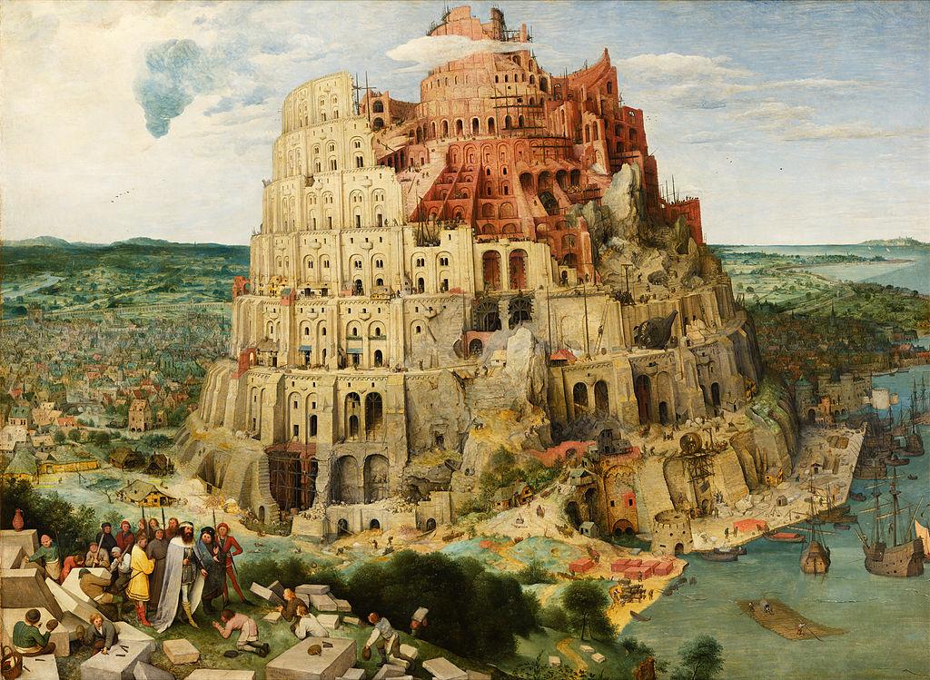 La tour de Babel, Bruegel l'Ancien, 1563, huile sur toile, 114×155cm