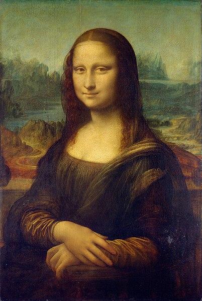 La Joconde, LéonarddeVinci, entre1503 et1506, huile sur bois, 77×53cm, musée du Louvre, Paris