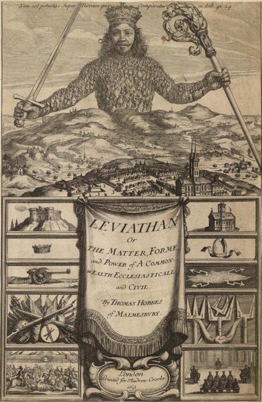 Frontispice du Léviathan par AbrahamBosse, 1651