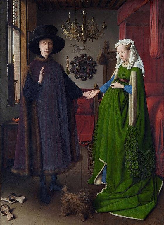 Les époux Arnolfini, JanvanEyck, 1434, huile sur bois, 82,2×60cm, NationalGallery deLondres