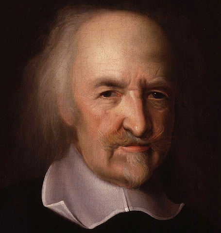 Portrait de Thomas Hobbes par John Michael Wright, XVII<sup>e</sup> siècle, source : National Portrait Gallery