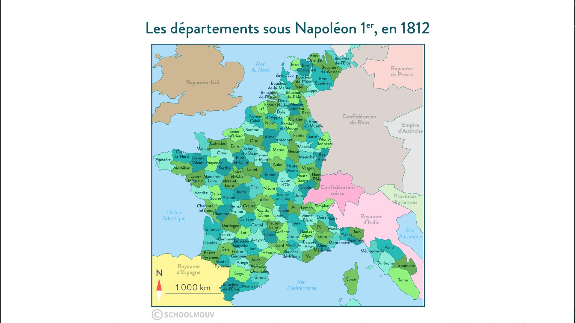 départements français Napoléon