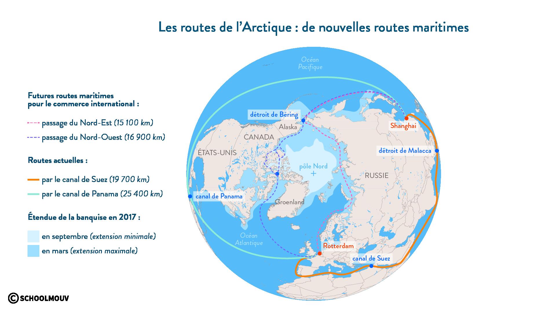 Lesnouvelles routes martitimes de l'Arctique - géographie - SchoolMouv - 2de