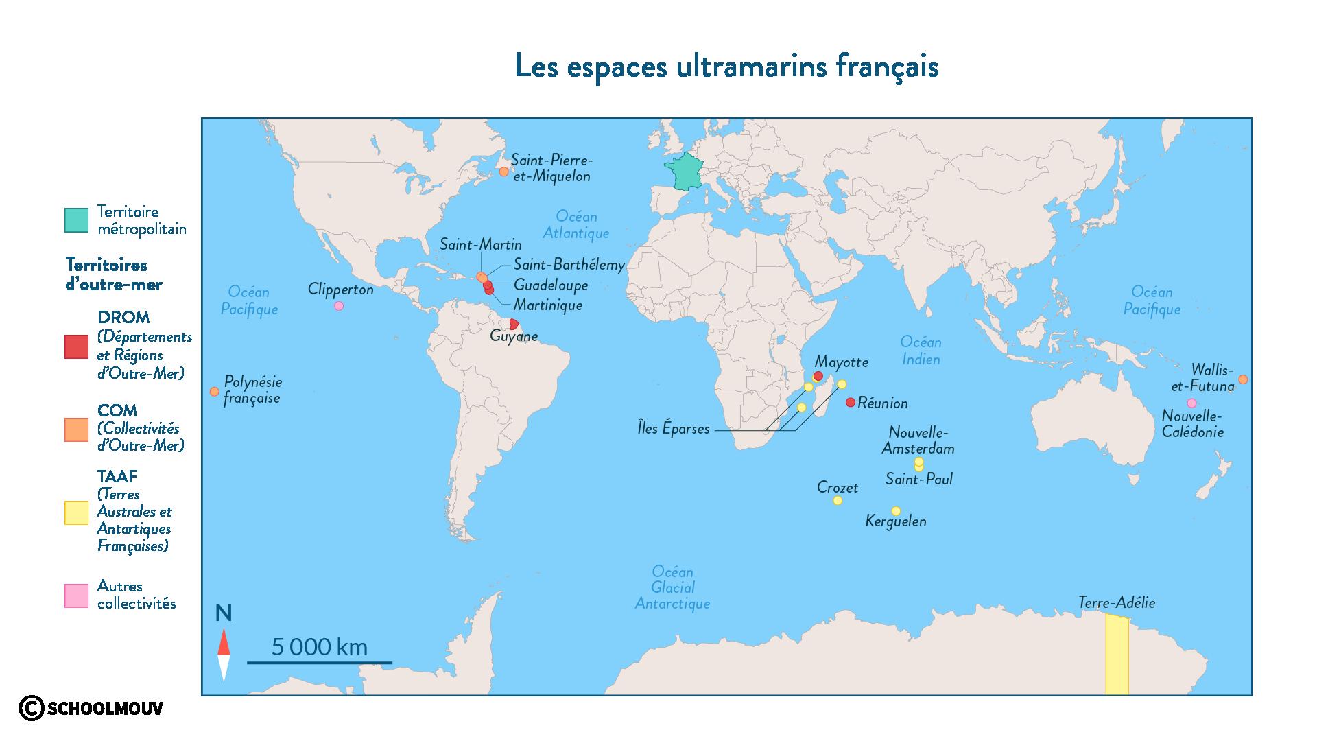 Les espaces ultramarins français - géographie - 2de - SchoolMouv