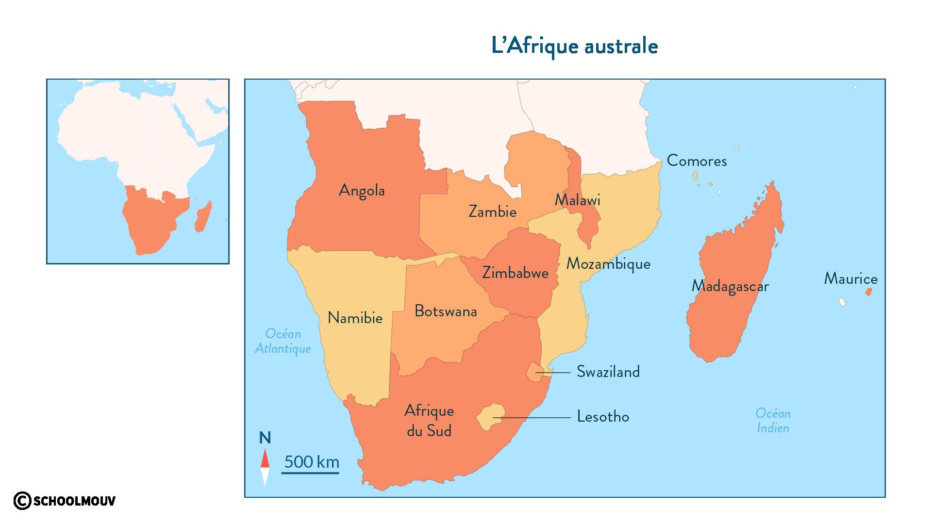 L'Afrique australe - géo - 2de - SchoolMouv