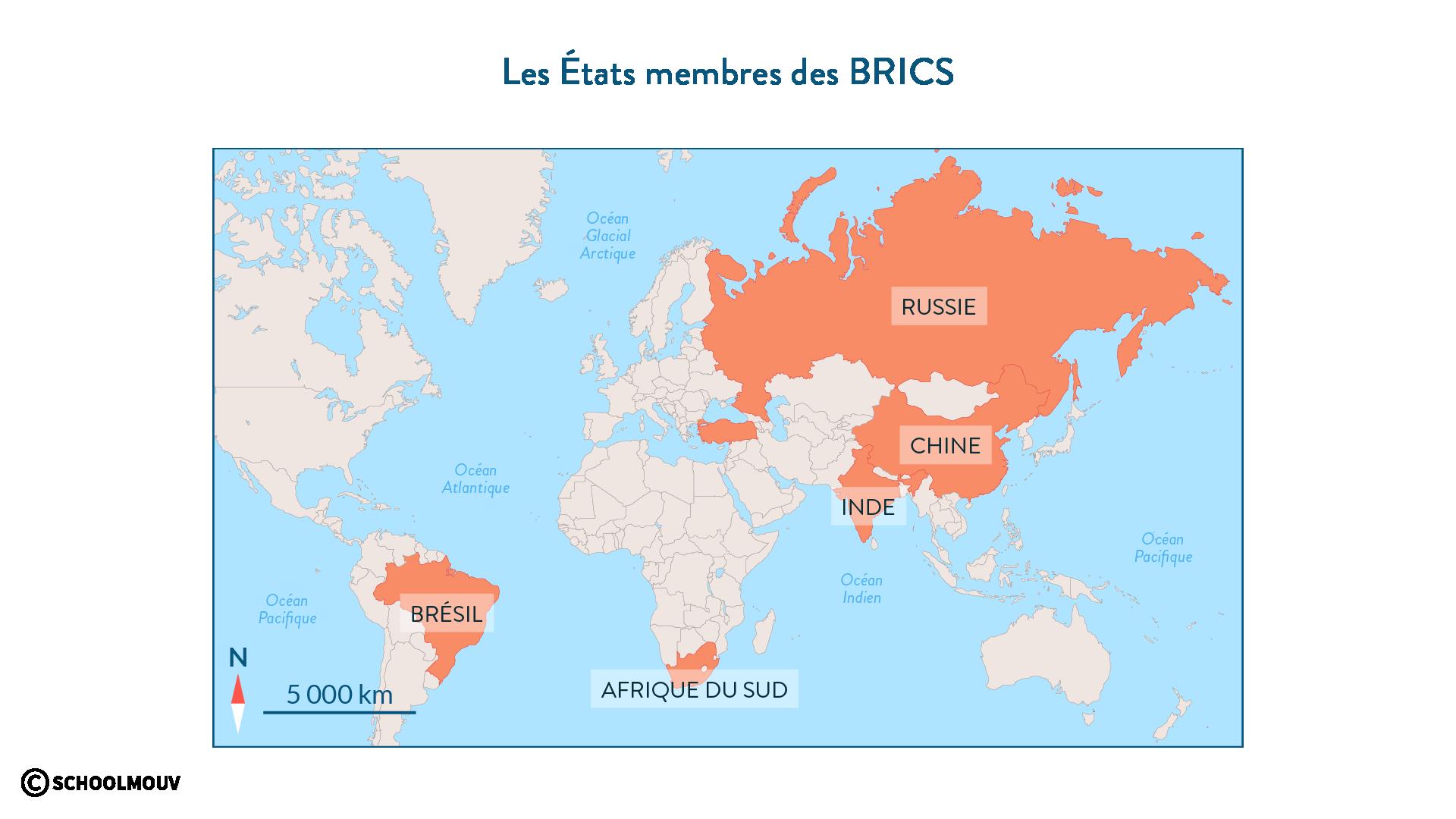 Les États membres des BRICS - SchoolMouv - géographie - 2de