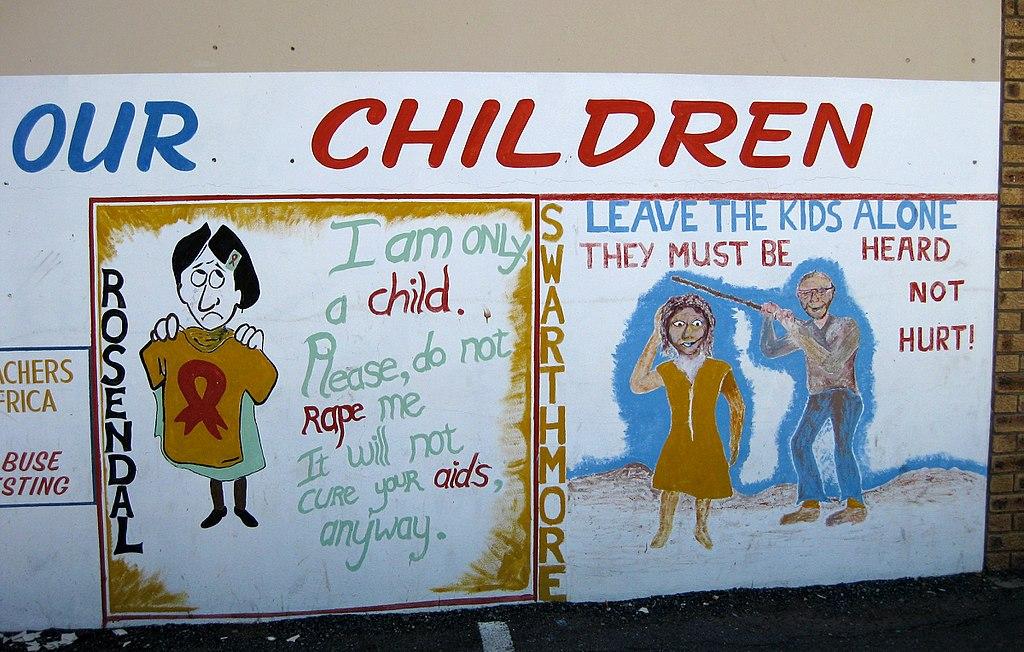 Affiche en Afrique duSud pour prévenir le viol sur les jeunes filles - géo - 2de - SchoolMouv