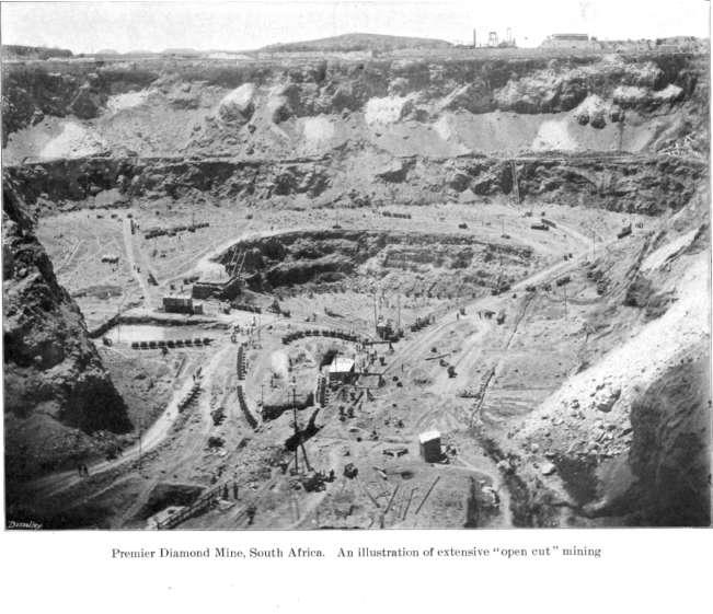 Exploitation à ciel ouvert d'une mine de diamants en Afrique du Sud avant 1903 - 2de - SchoolMouv - géo