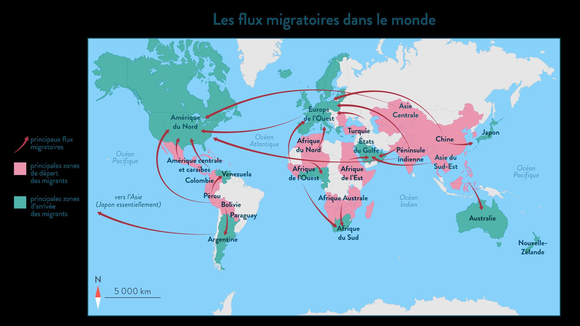 Les flux migratoires dans le monde - Géographie - 2de - SchoolMouv
