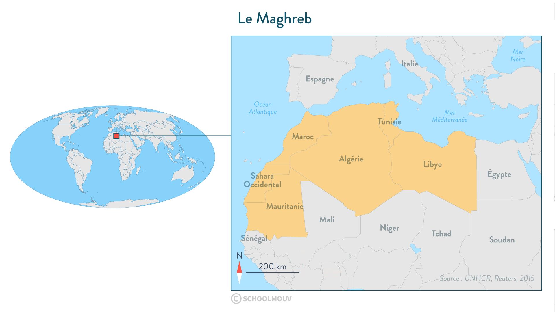 Les Maghreb-Géographie-Seconde-SchoolMouv