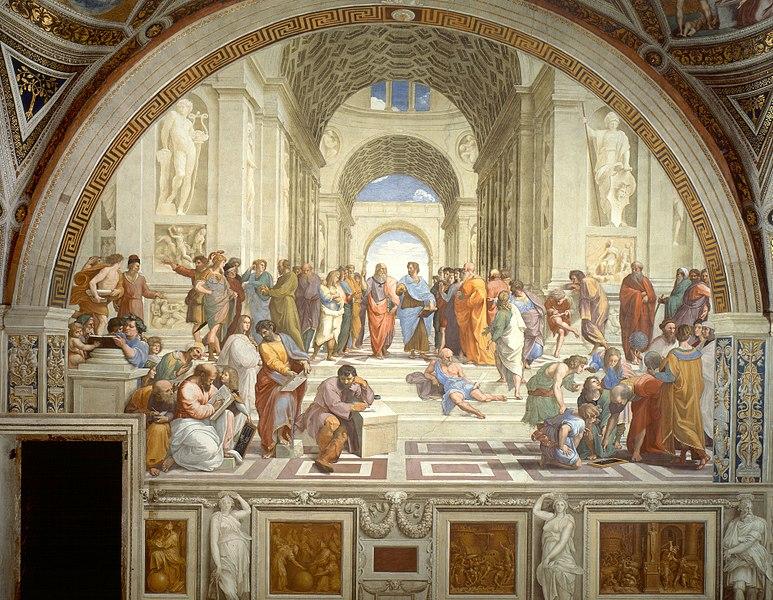 L'école d'Athènes, fresque de Raphael - histoire -seconde - SchoolMouv