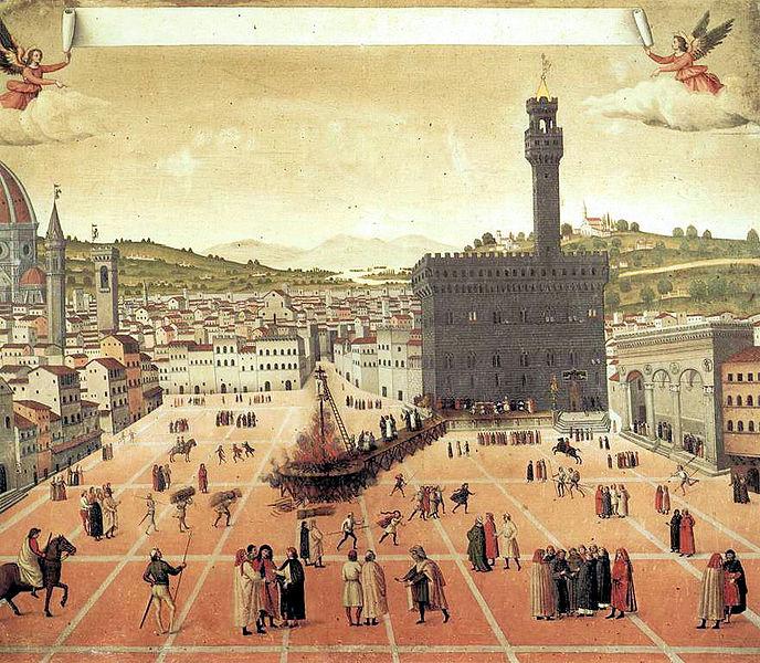Jérôme Savonarole brûlé sur le bucher à Florence en1498 - SchoolMouv - histoire - 2de