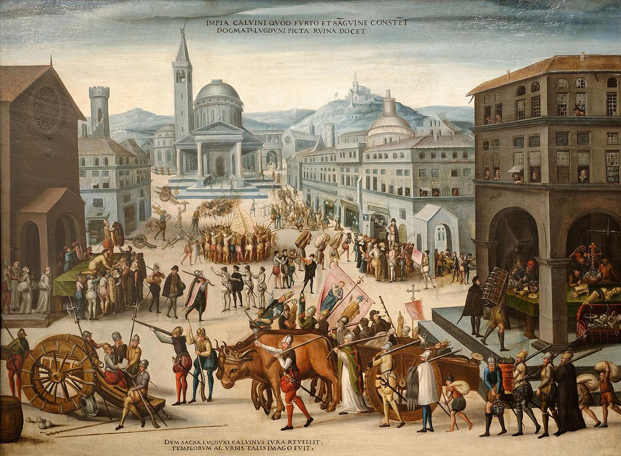 Sac de Lyon par les Calvinistes en1562 qui se livrent à l'iconoclasme - histoire - 2de - SchoolMouv