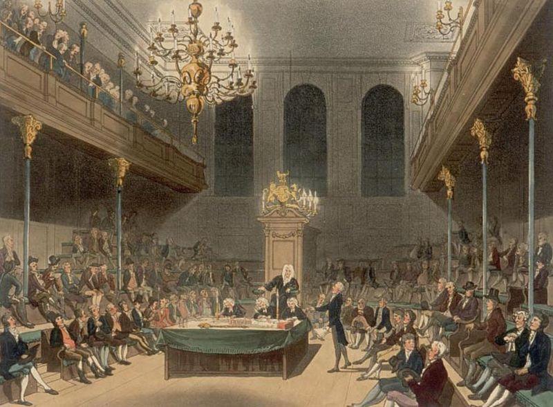 La Chambre des Communes en 1808 - SchoolMouv - Histoire - 2de