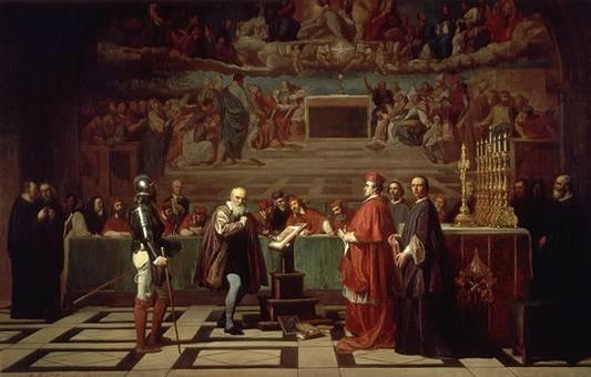 Joseph-Nicolas Robert-Fleury, Galilée devant le Saint-Office, XIXesiècle - SchoolMouv - Histoire - 2de