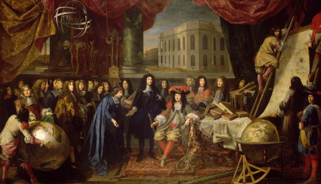 Colbert présente à Louis XIV les membres de l'Académie royale des sciences - Histoire - 2de - SchoolMouv