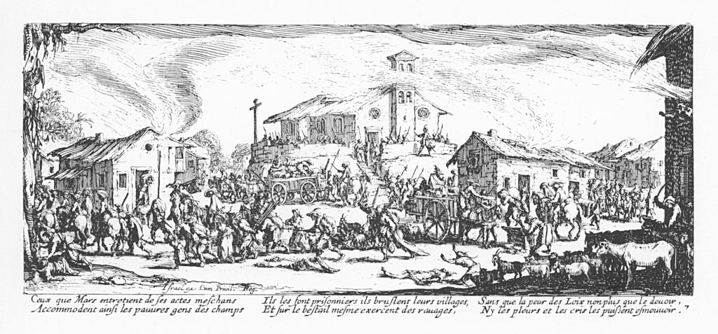Gravure de Jacques Callot, in Les Grandes Misères de la Guerre, 1633 - SchoolMouv - histoire - 2de