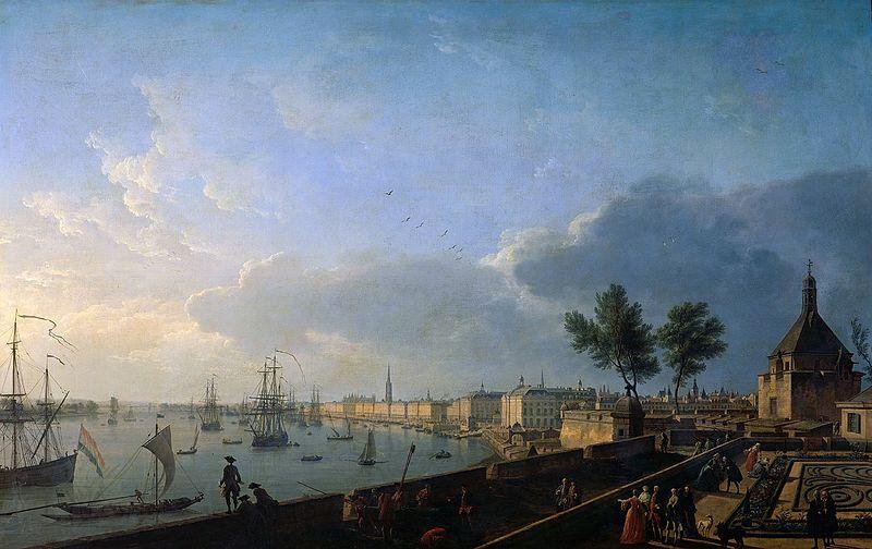 Joseph Vernet, Deuxième vue du Port de Bordeaux prise du château Trompette, 1759 - Histoire - 2de - SchoolMouv