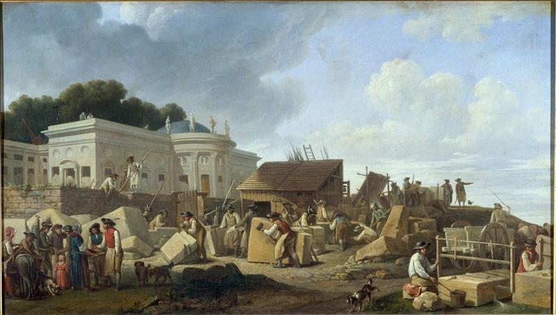 Toile anonyme représentant la construction de l'hôtel de Salm à Paris - Histoire - 2de - SchoolMouv