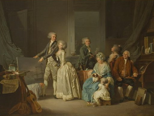 Louis-Léopold Boilly, La famille Gohin, 1787 - Histoire - 2de - SchoolMouv