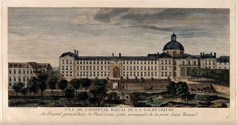 Gravure de Jacques Rigault représentant l'hôpital de la Salpêtrière à Paris au XVIIIe siècle - SchoolMouv - Histoire - 2de