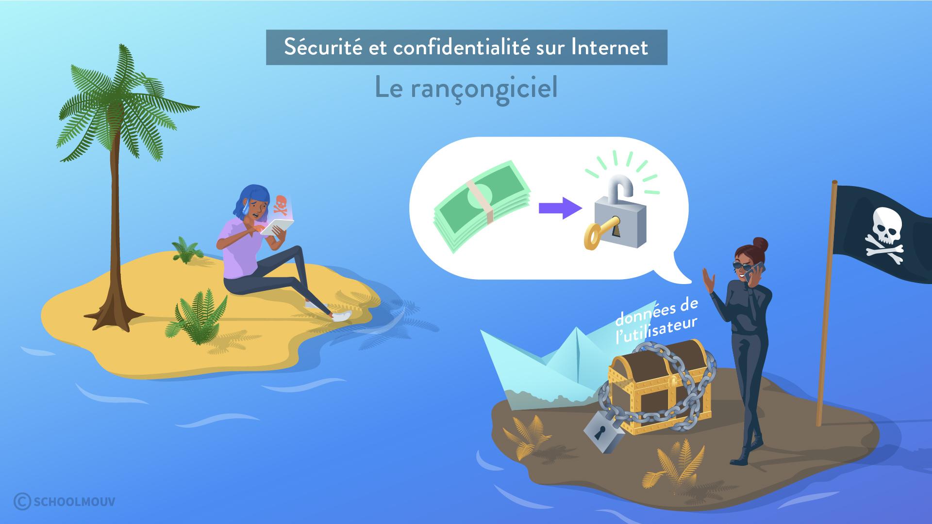 sécurité et confidentialité sur internet rançongiciel donnéées utilisateur navigateur pirate sciences numériques et technologie seconde