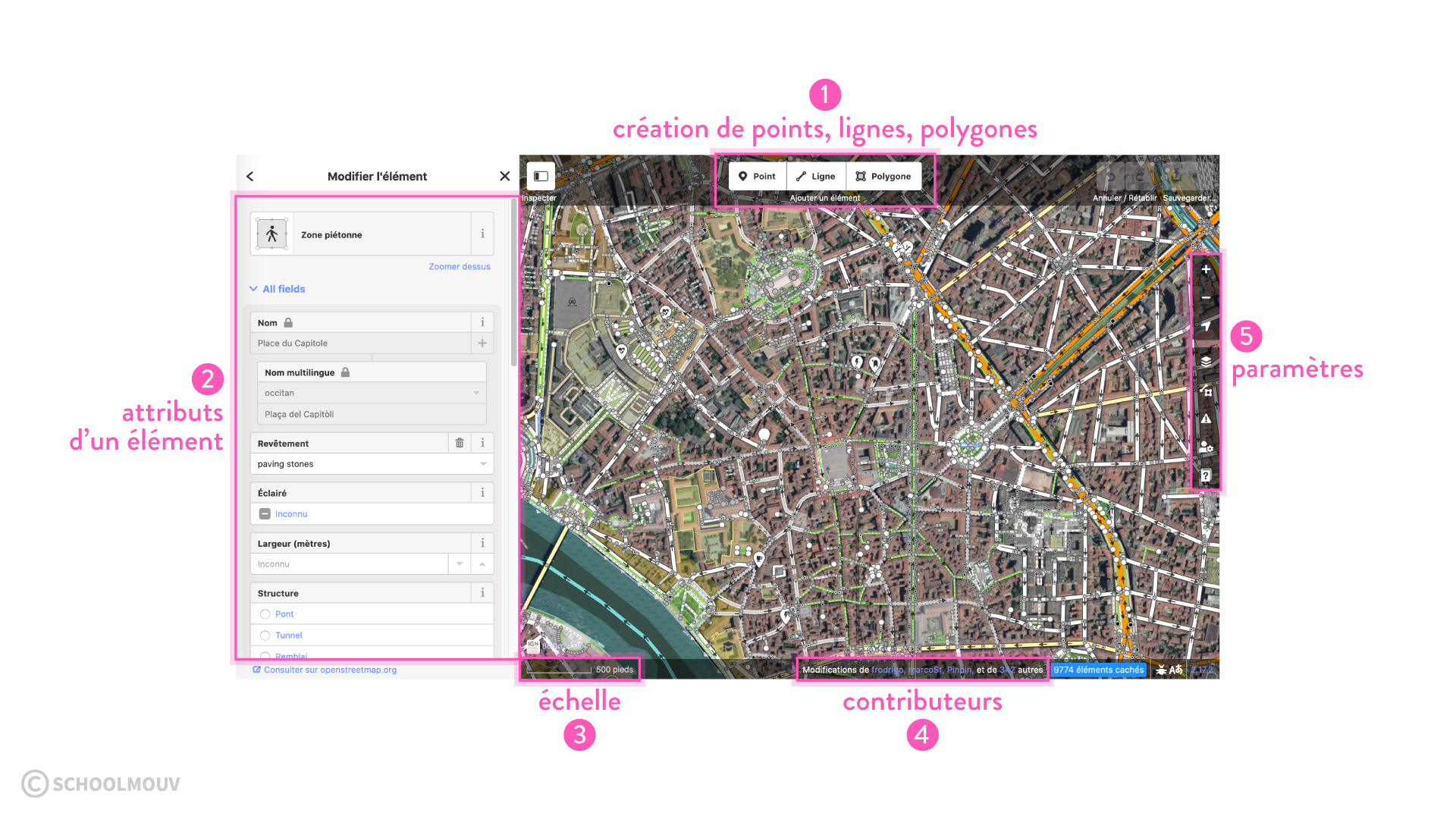 Présentation de l'interface d'OpenStreeMap éditeur cartographie sciences numériques et technologie seconde