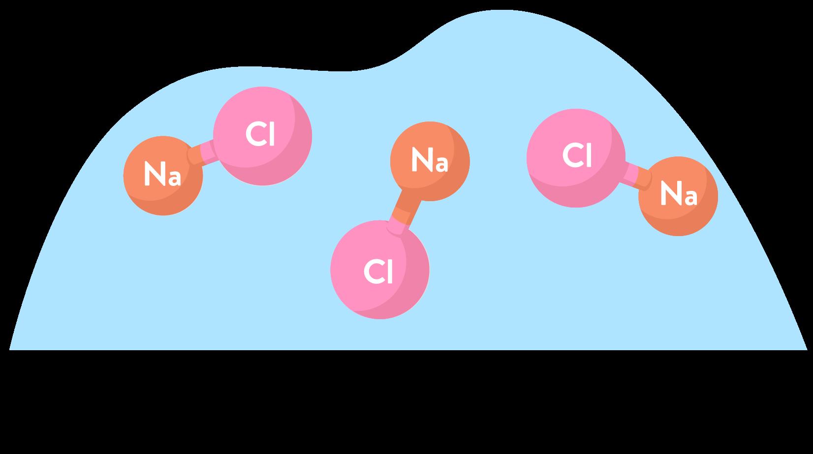 Molécules de chlorure de sodium