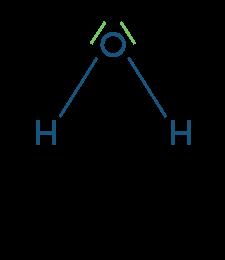 Écriture de la formule de Lewis de l'eau
