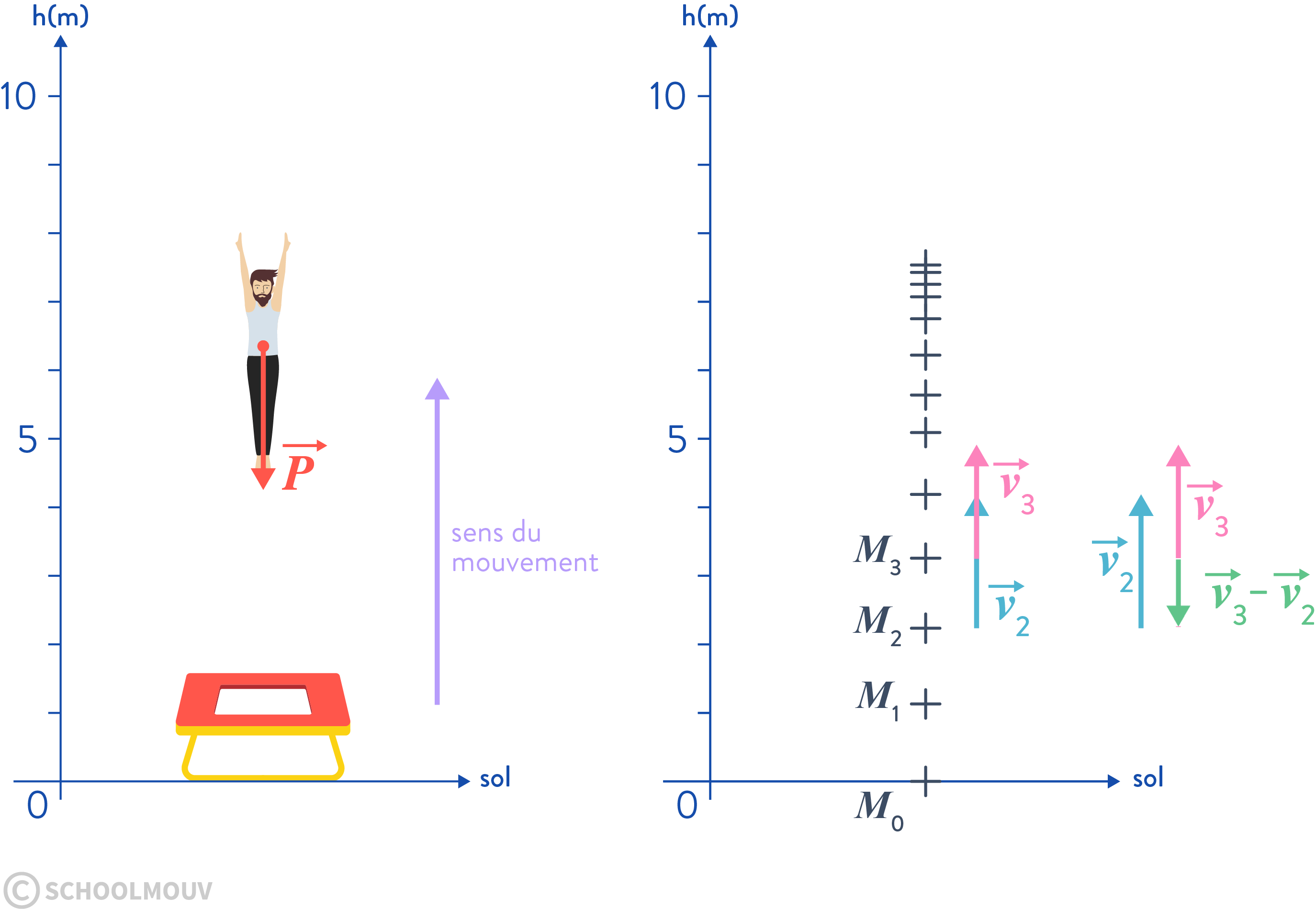 principe d'inertie variation du vecteur vitesse chute libre