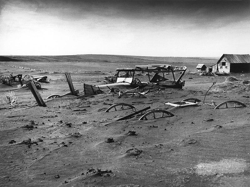 ensevelissement Dust Bowl Dakota catastrophe géologique