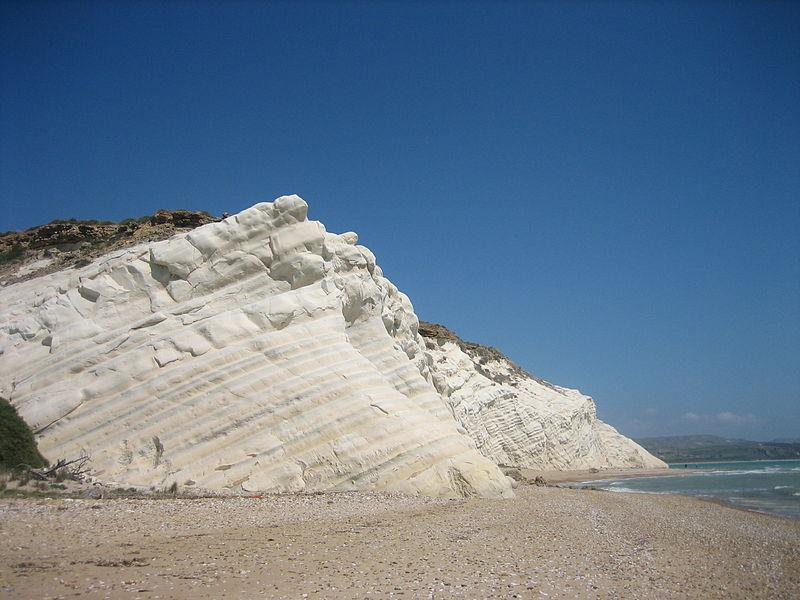 falaise gypse plâtre Sicile