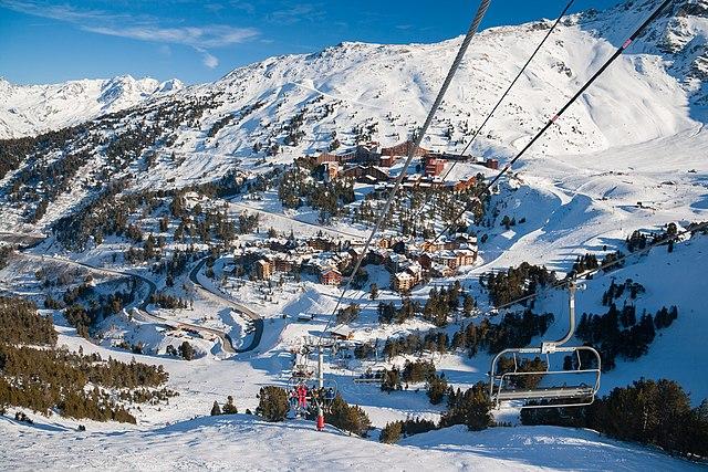 Station Arcs Haute-Savoie plan neige