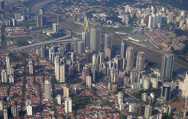 Quartier des affaires Sao Paulo Brésil