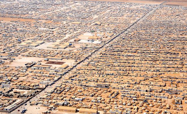 camp réfugiés Za'atri Jordanie flux migratoires