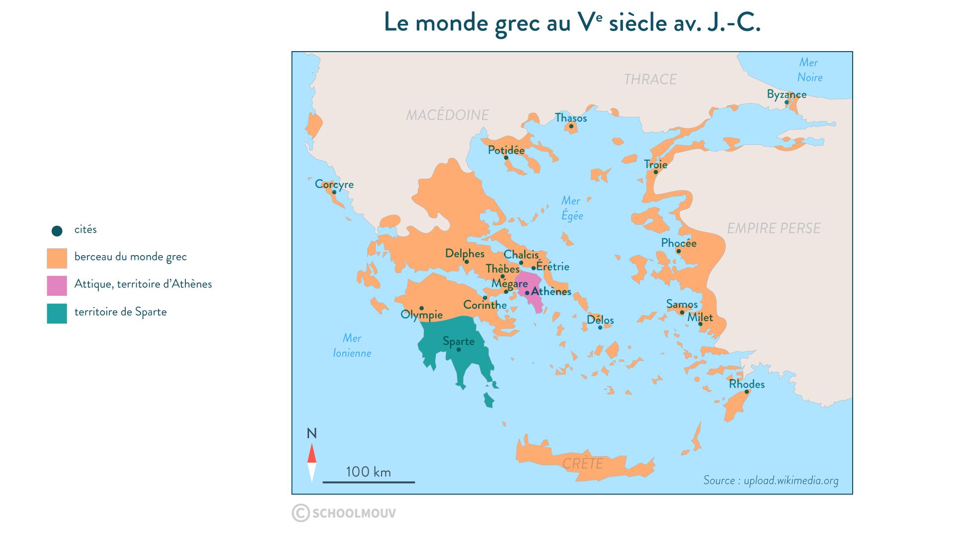 Le monde grec au Ve siècle av. J.-C. - Histoire - 2de - SchoolMouv