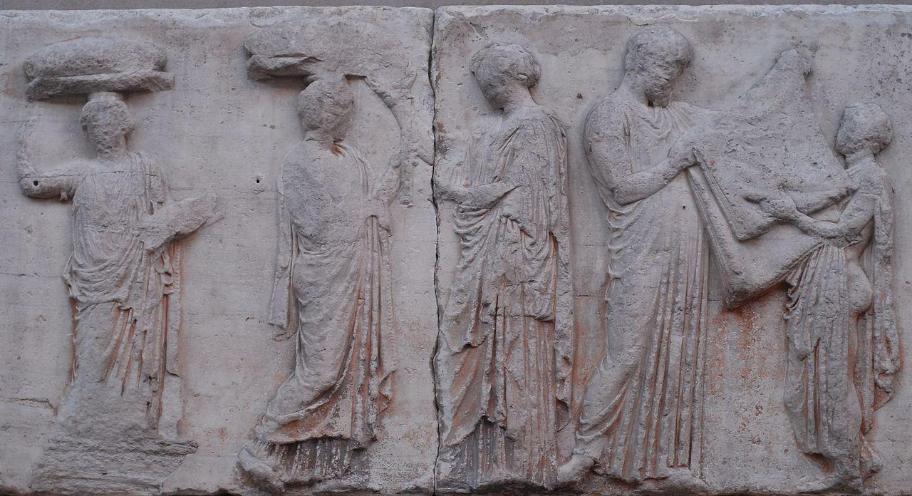 Scène de la frise des Panathénées ©Twospoonfuls CC BY 3.0 - Hisotire - 2de - SchoolMouv