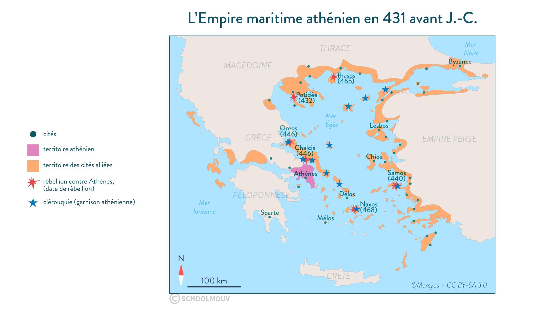 L'Empire maritime athénien en 431 avant J.-C. - Histoire - 2de - SchoolMouv