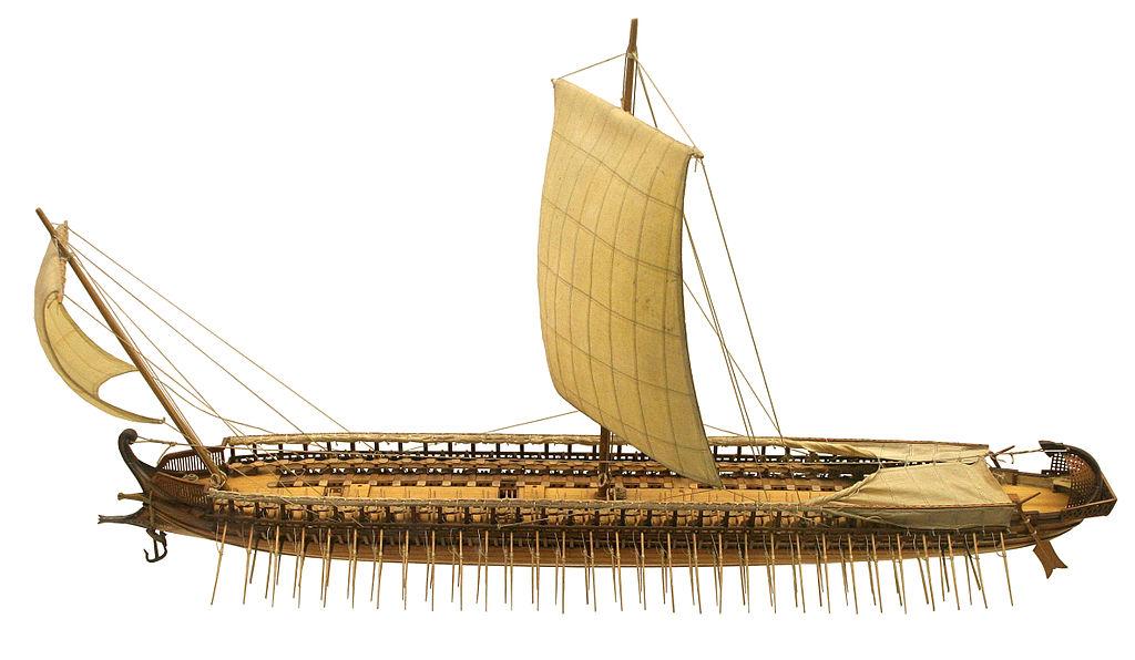 Maquette d'une trière grecque - CC BY-SA 3.0 - HIstoire - 2de - SchoolMouv