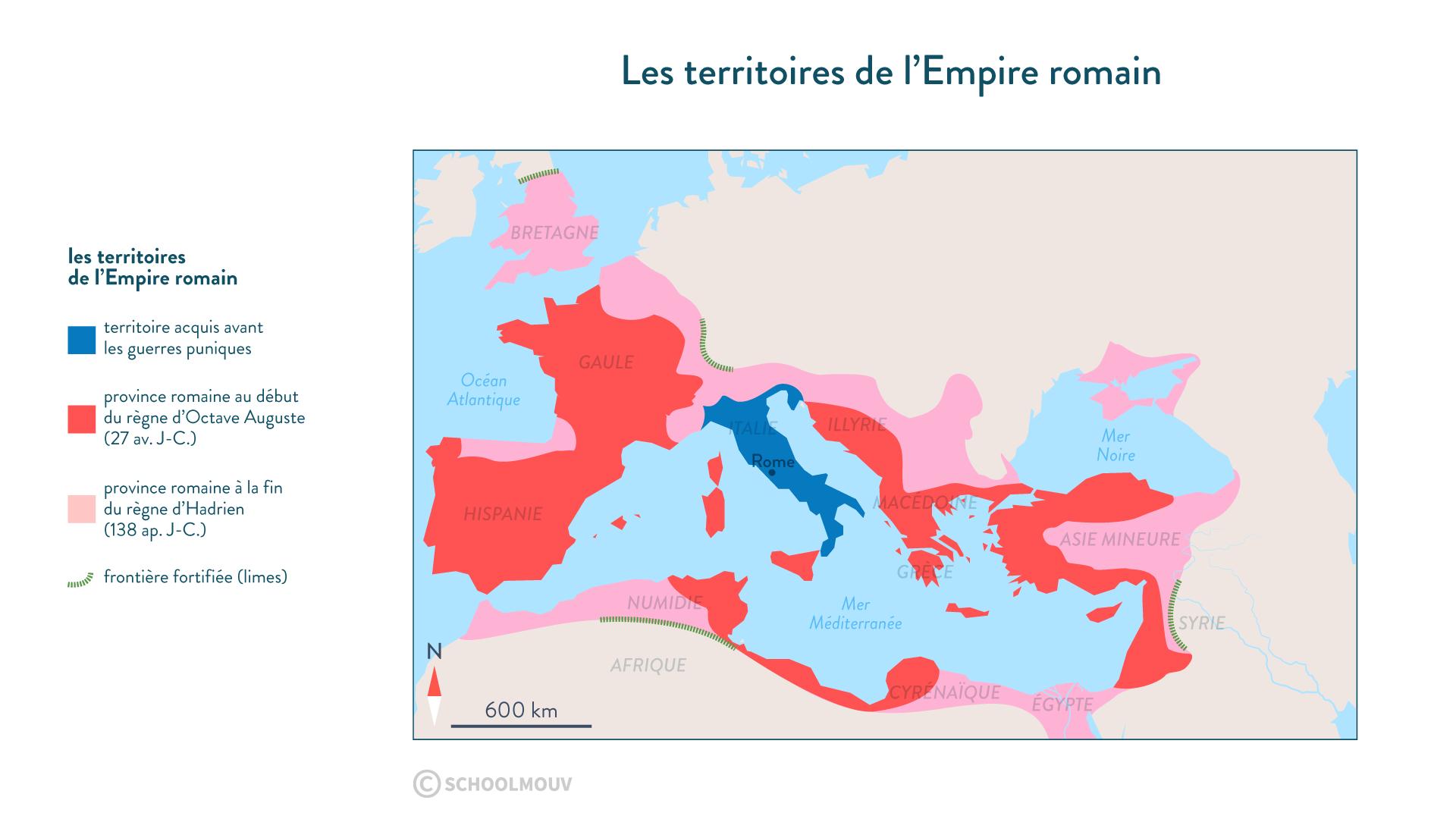 Les territoires de l'Empire romain - Histoire - 2de - SchoolMouv