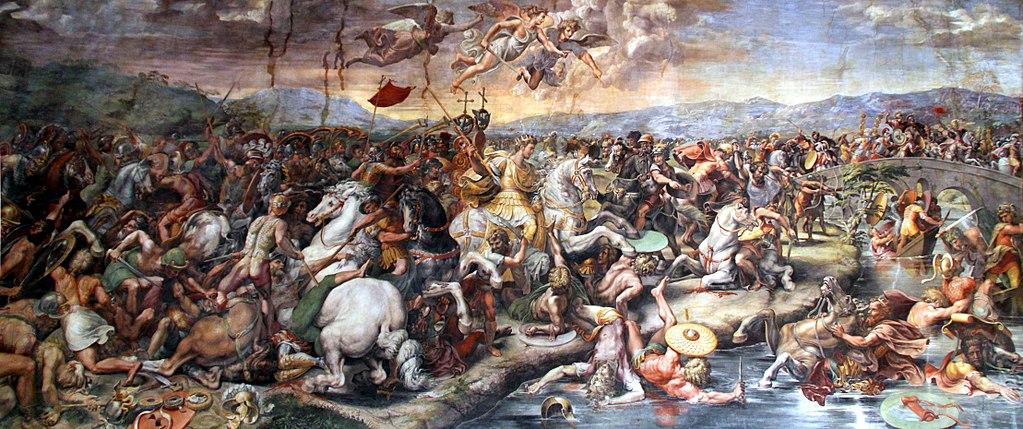Constantin gagne la bataille du Pont Milvius avec l'aide des anges - Histoire - 2de - SchoolMouv