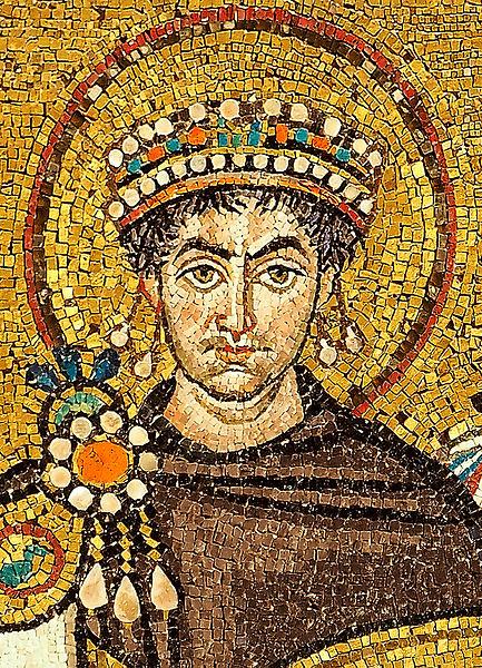 Mosaique représentant l'empereur Justinien - Histoire - 2de - SchoolMouv