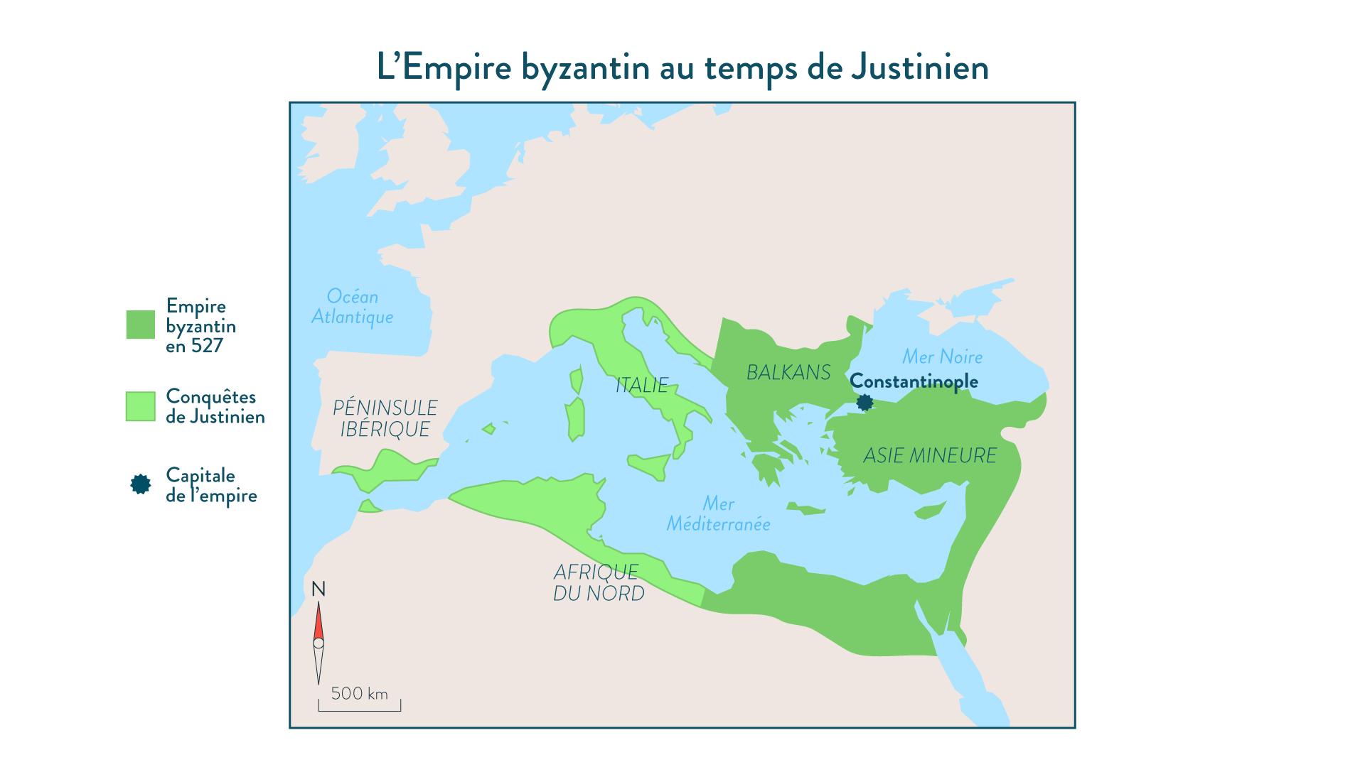 L'Empire byzantin au temps de Justinien - Hsitoire - 2de - SchoolMouv