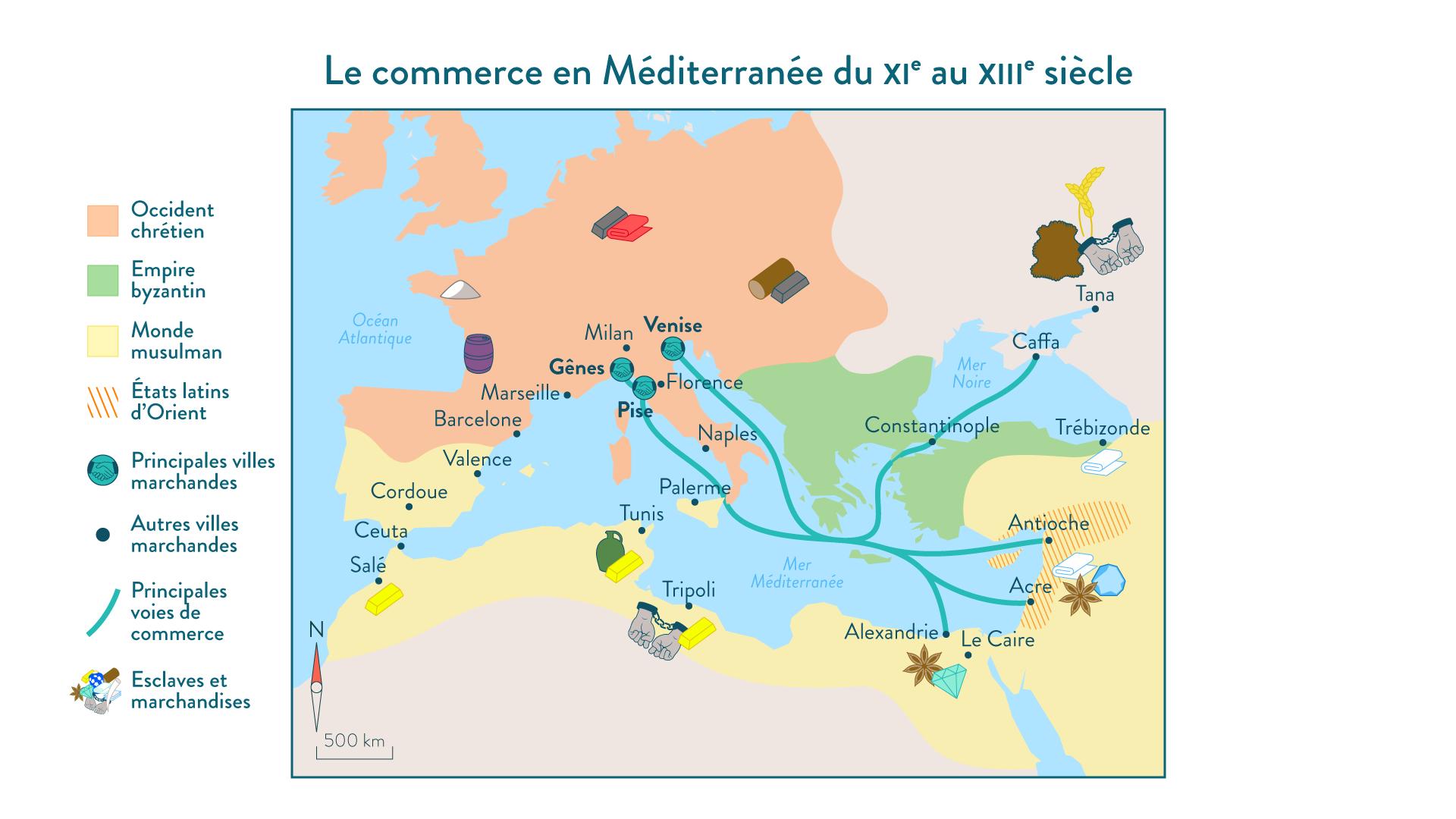 Le commerce méditerranéen - Histoire - 2de - SchoolMouv