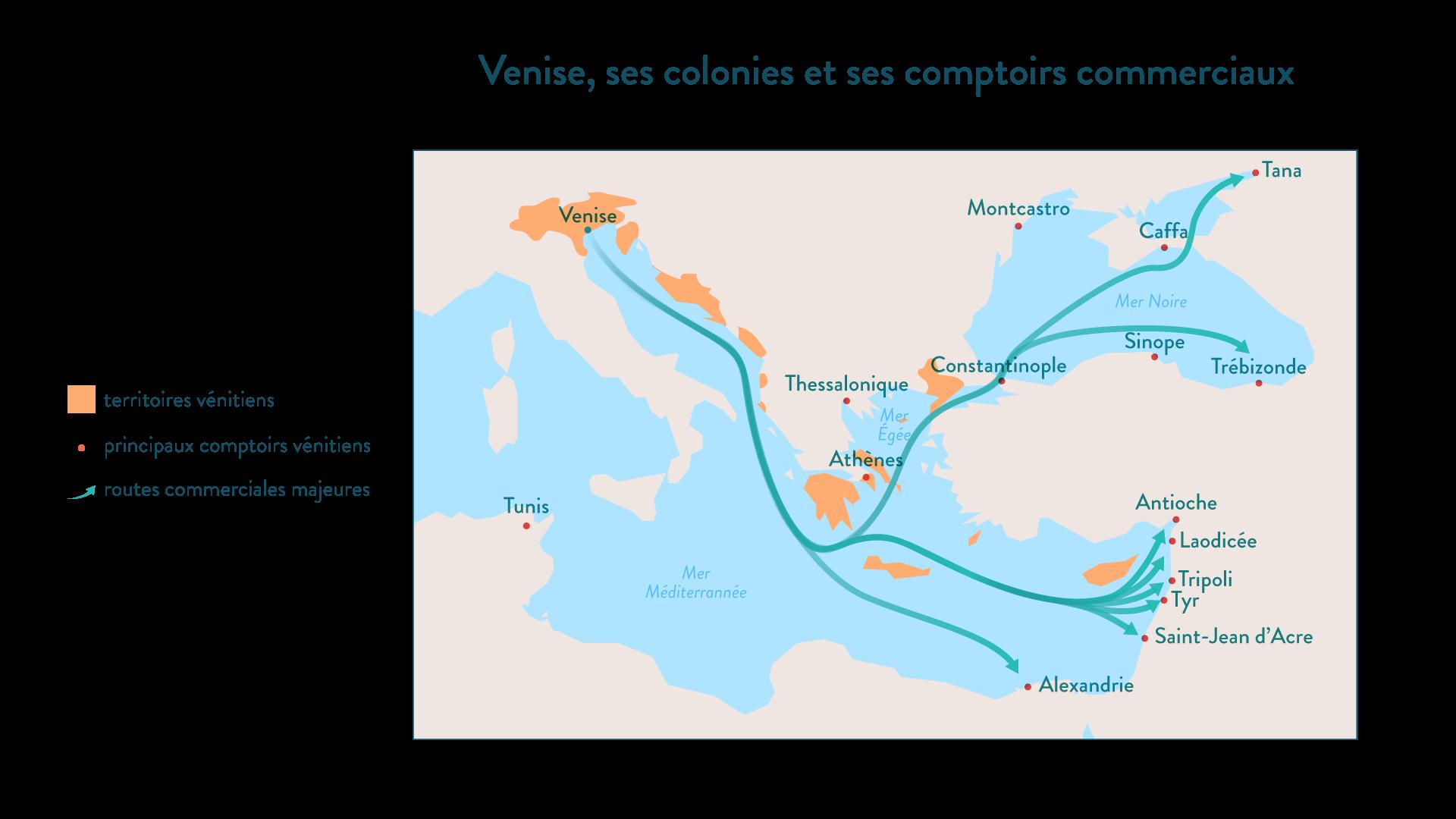 Venise, ses colonies et ses comptoirs commerciaux - Histoire - 2de - SchoolMouv