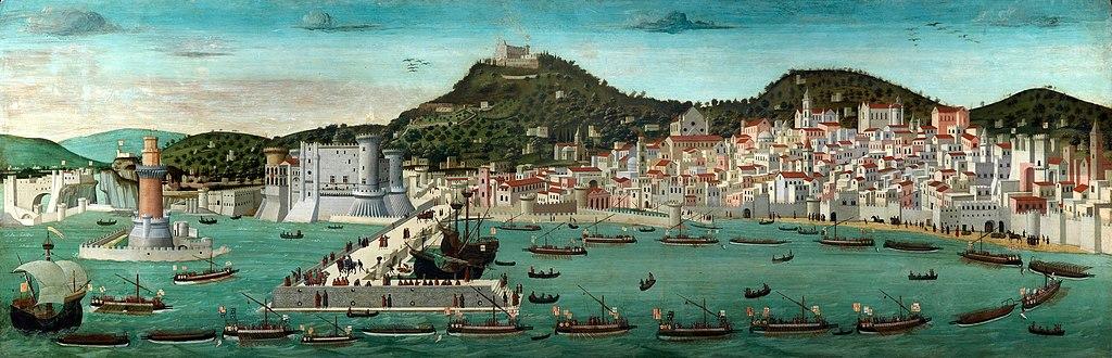 Défilé naval de la flotte aragonaise dans le port de Naples - Histoire - 2de -SchoolMouv