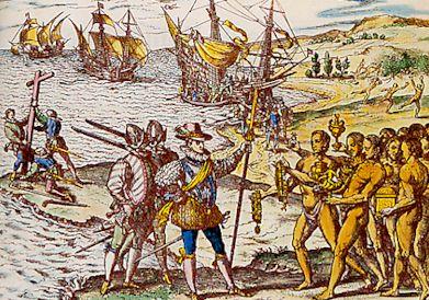 Débarquement de Christophe Colomb dans les Caraïbes en octobre1492 - Histoire - 2de - SchoolMouv
