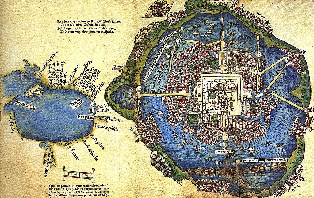 Carte de Mexico-Tenochtitlan - SchoolMouv - Histoire - 2de