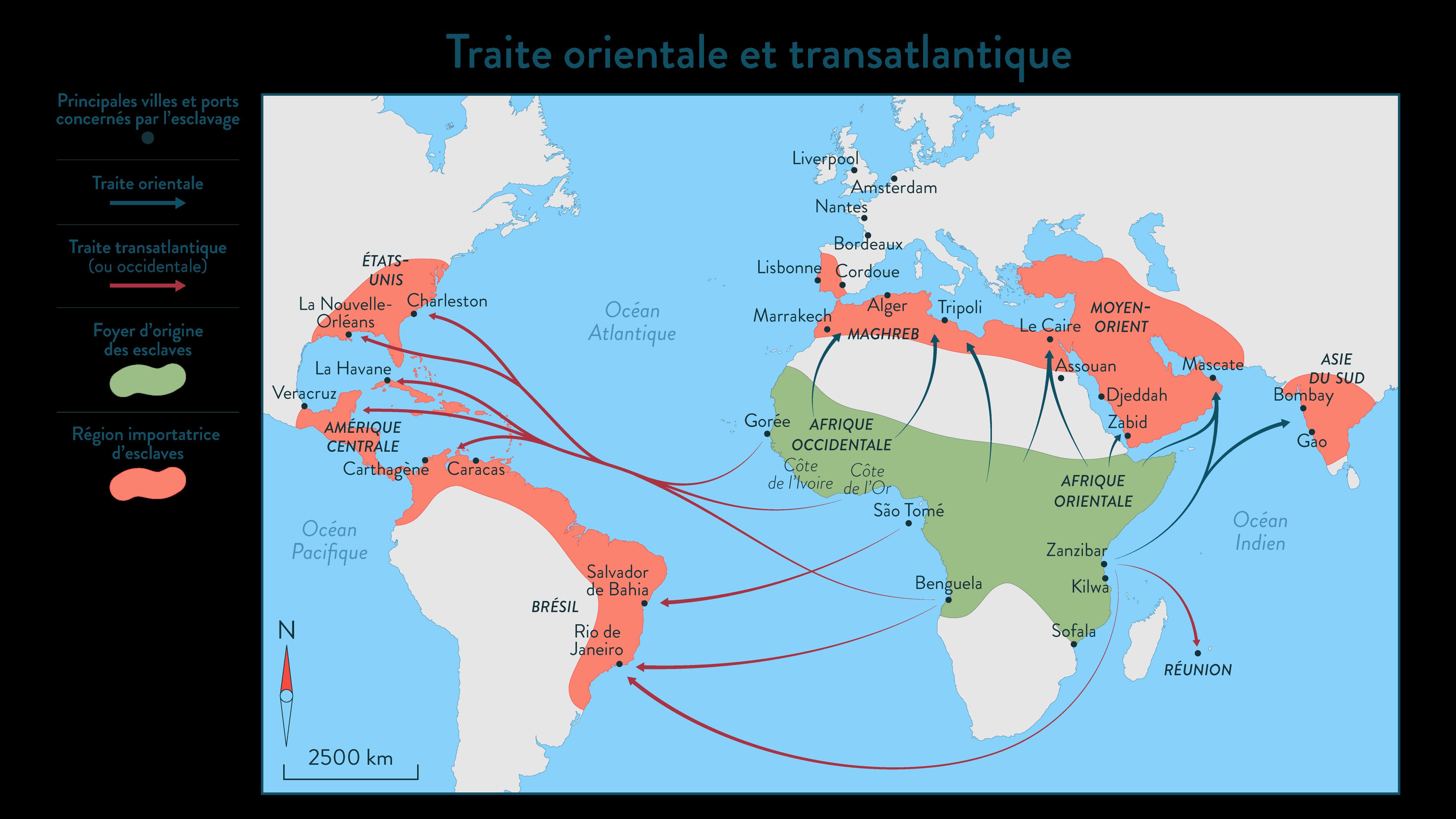 Traite orientale et transatlantique - Histoire - SchoolMouv - 2de