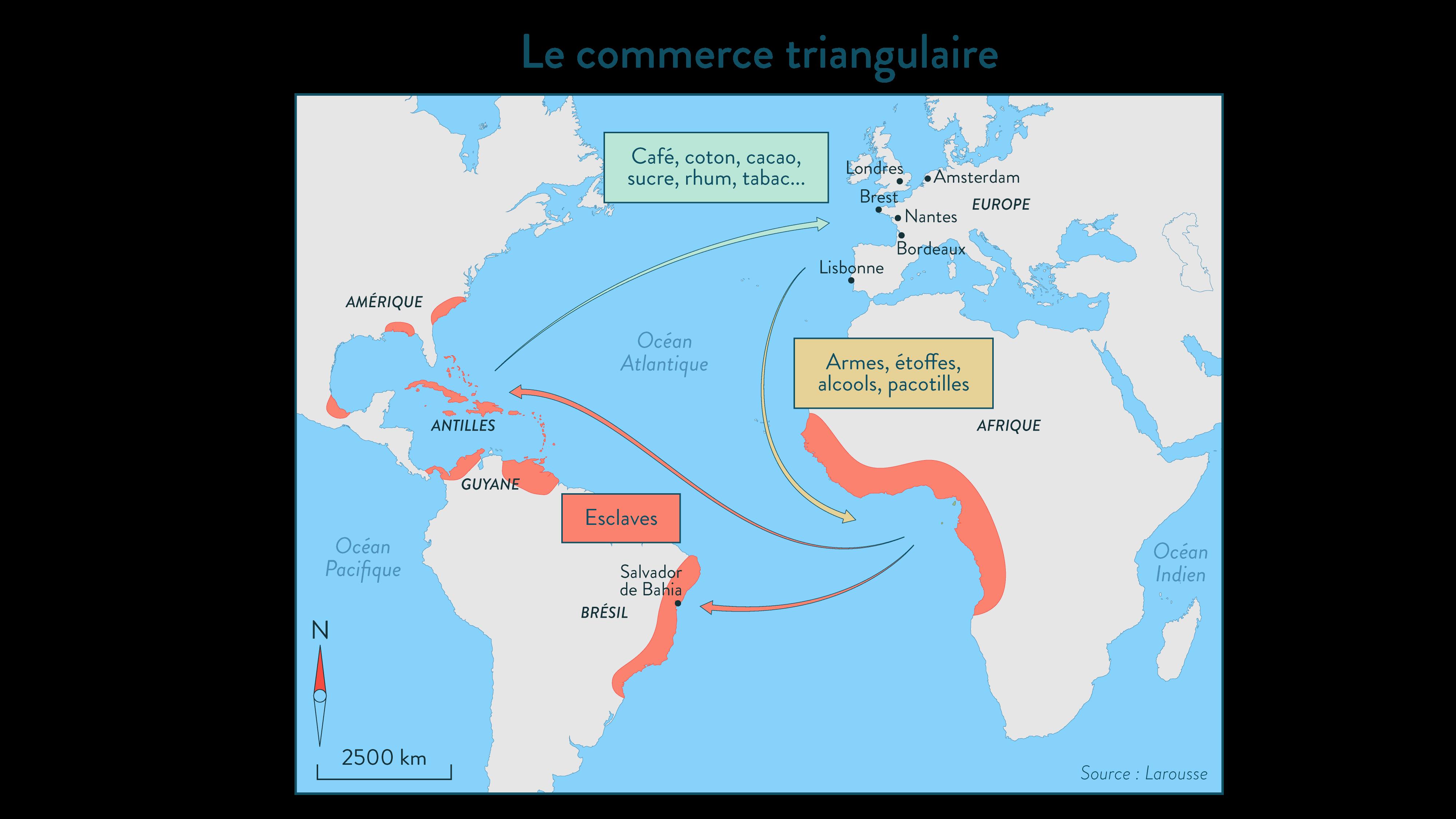 Le commerce triangulaire - 2de - Hsitoire - SchoolMouv